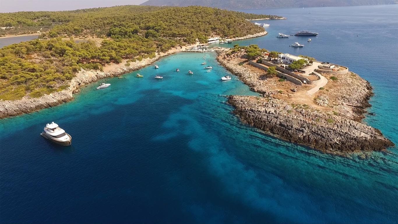 Agistri island - greece - aerial