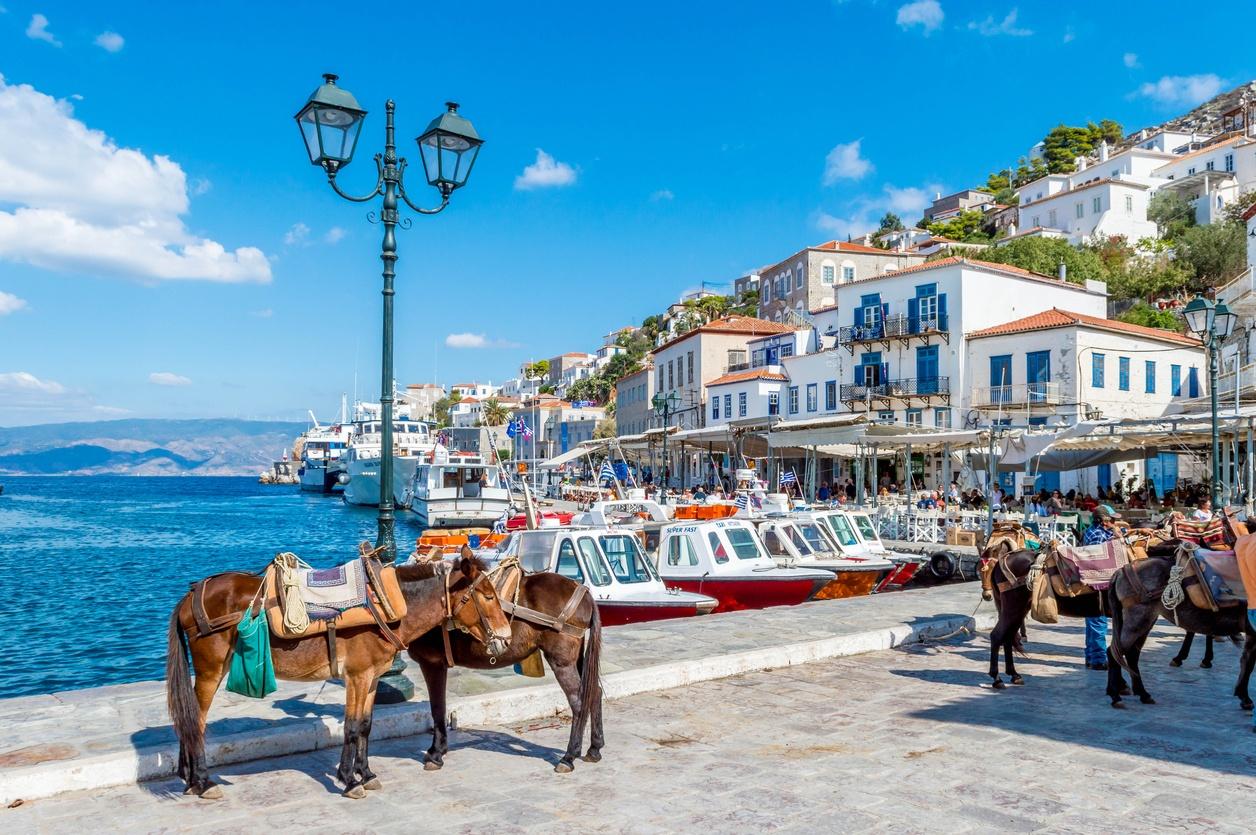 hydra island - greece - town