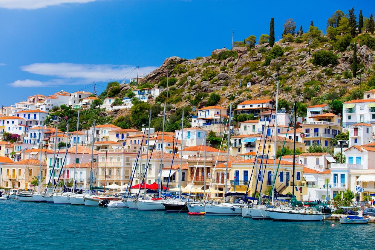 poros island - greece - town