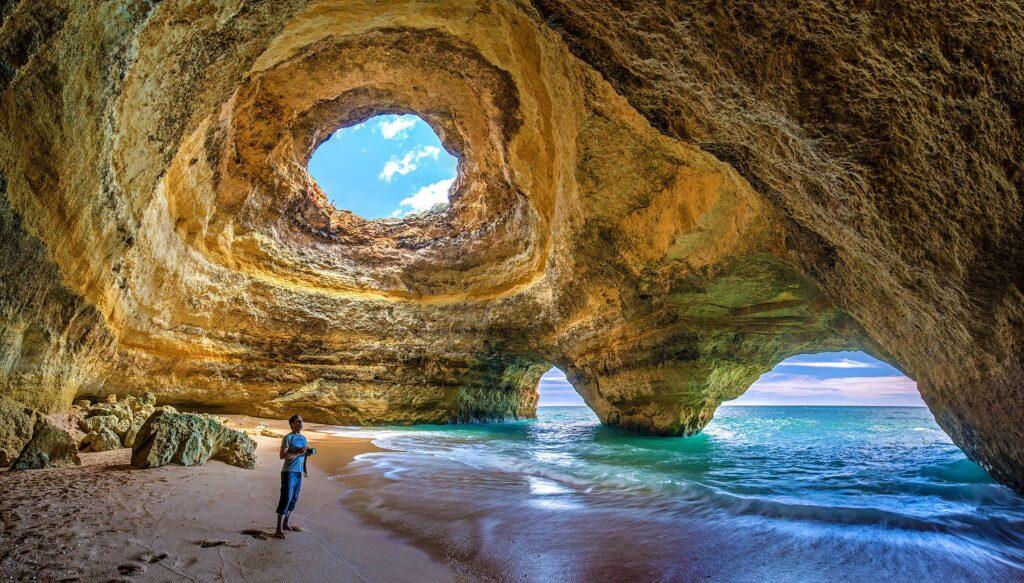 benagil beach algarve portugal